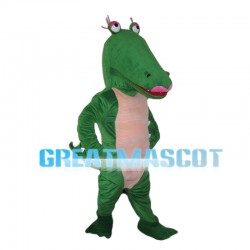Funny Crocodile With Pink Lips Mascot Costume