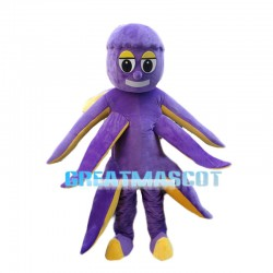 Purple Octopus Mascot Costume
