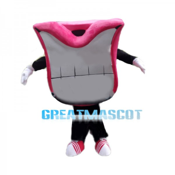 Cartoon Mouth With Pink Lips Mascot Costume