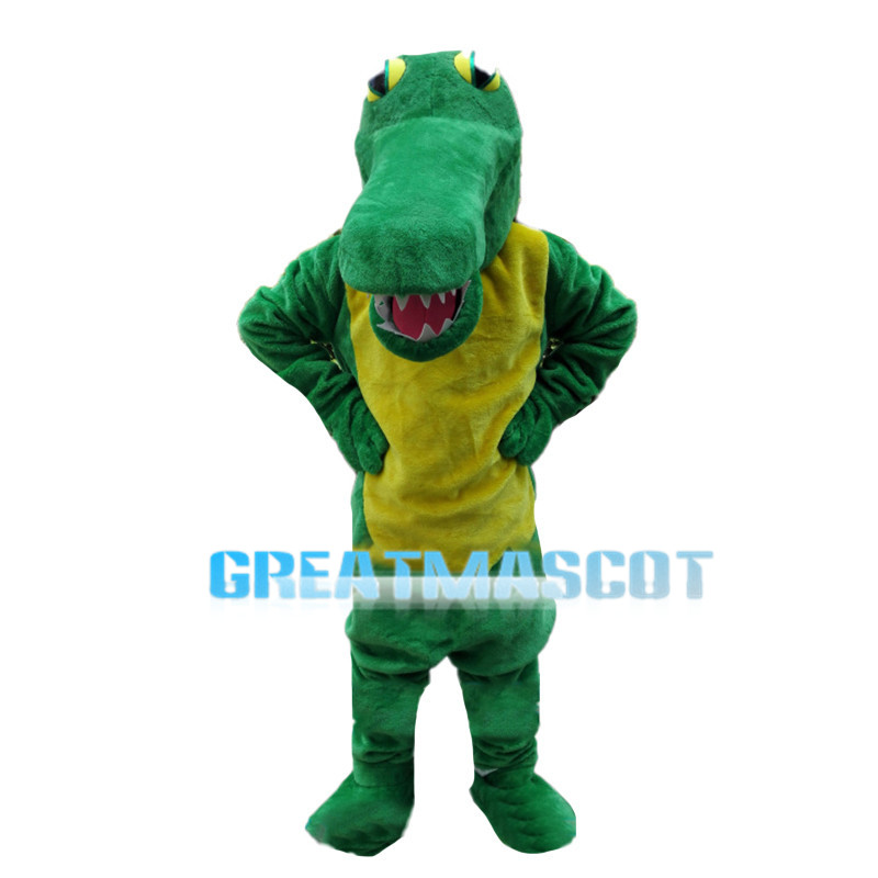 Ferocious Green Crocodile Mascot Costume