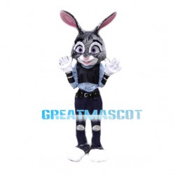 Impulsive Blue Rabbit Sheriff Mascot Costume