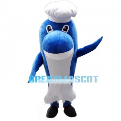 Reliable Dolphin Chef With Hat Mascot Costume
