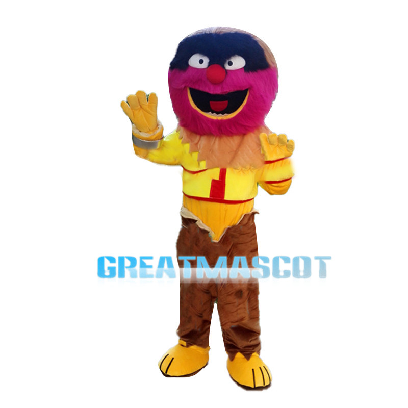 Special Look Colorful Hairy Monster Mascot Costume