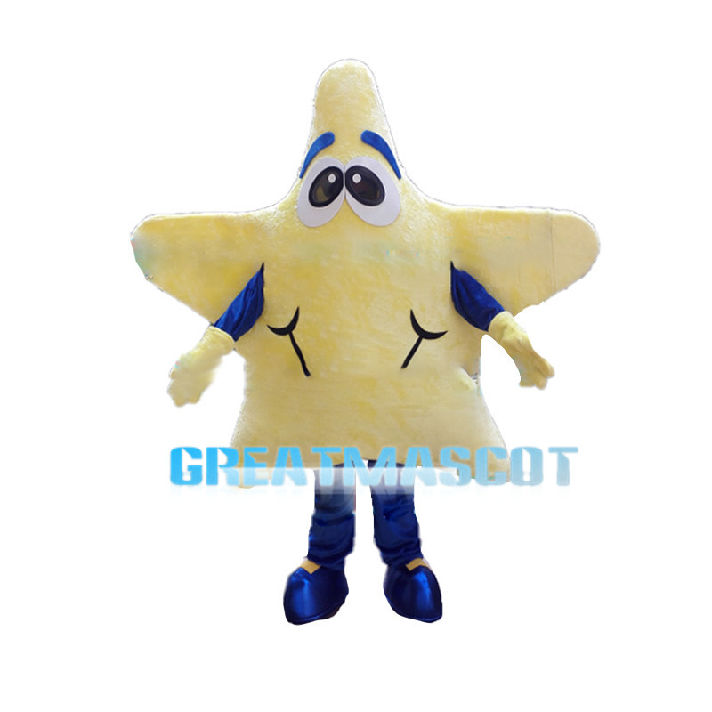 Yellow Star With Blue Pants Mascot Costume