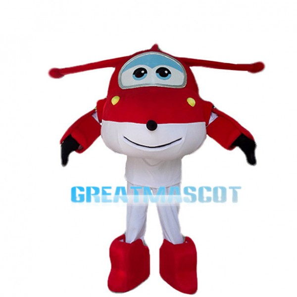 Super Wings Aircraft Jett Mascot Costume