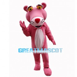 Humorous Pink Panther Mascot Costume