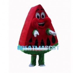 Slice Red Stuffed Watermelon Mascot Costume