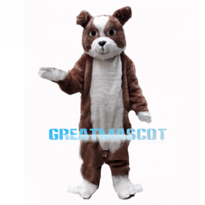 Adult Fancy Brown Dog Mascot Costume