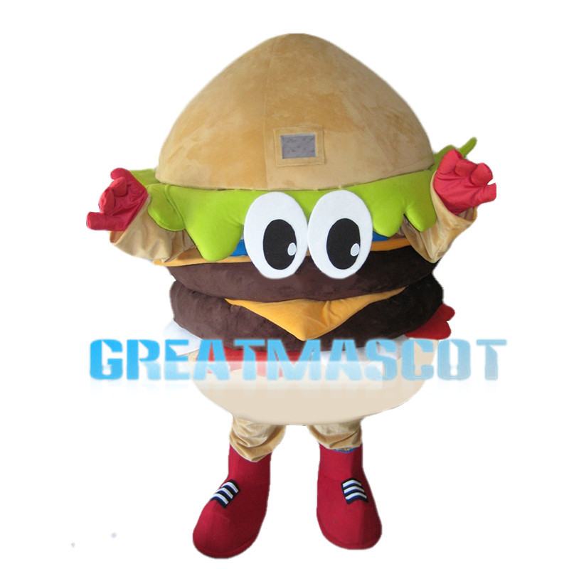 Double Beef Cheese Burger Mascot Costume