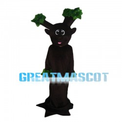 Brown Tree With Bare Branches Mascot Costume