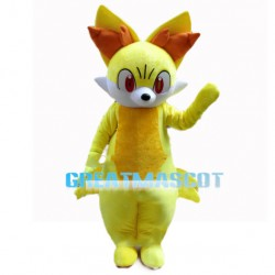 Fennekin With Light Yellow Fur Mascot Costume