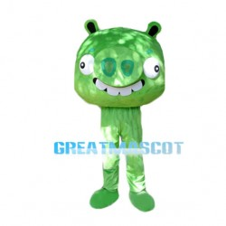 Funny Green Cartoon Pig Mascot Costume