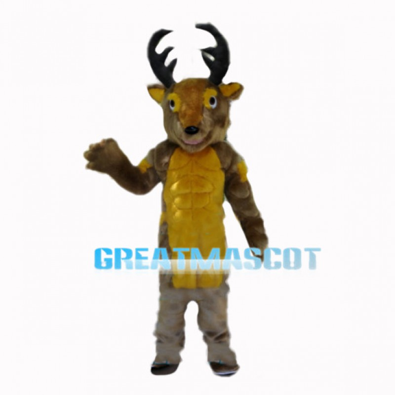 Adult Muscle Reindeer Mascot Costume