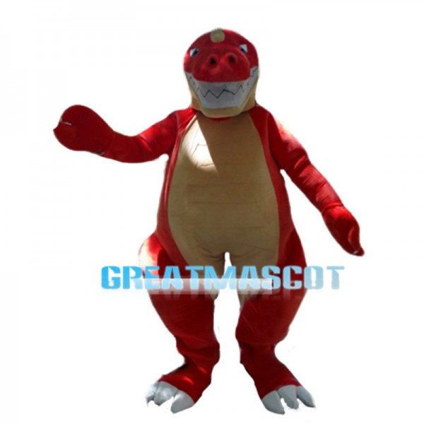Giant Forceful Red Dinosaur Mascot Costume