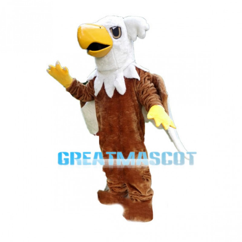 Brown Eagle With White Wings Mascot Costume
