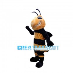 Angry Hale Orange Bee Mascot Costume