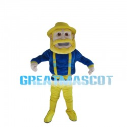 Old Man With Yellow Beard Mascot Costume
