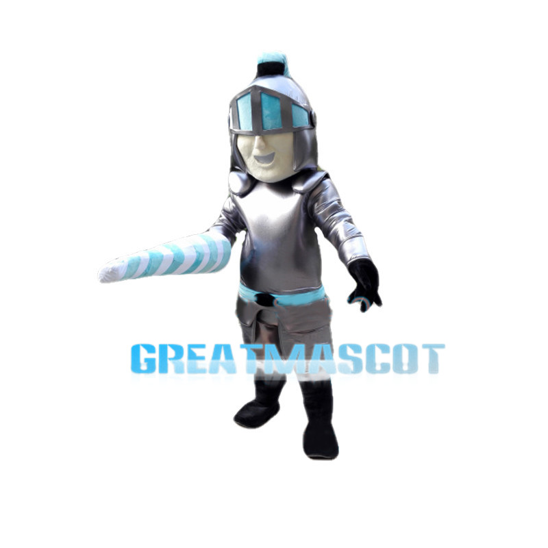 Fighting Soilder With Ironhide Armor Mascot Costume