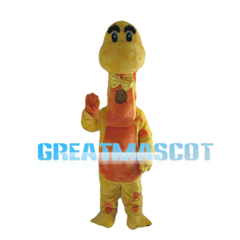 Tall Yellow & Orange Giraffe Mascot Costume