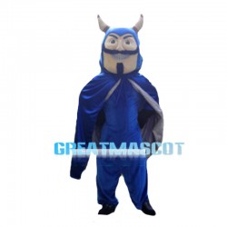 Blue Tauren With Cloak Mascot Costume