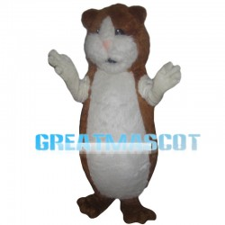 Soft Brown & White Chipmunk Mascot Costume