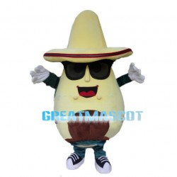 Sweet Avocado With Sunglasses Mascot Costume