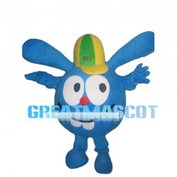 Blue Doll With So Long Ears Mascot Costume