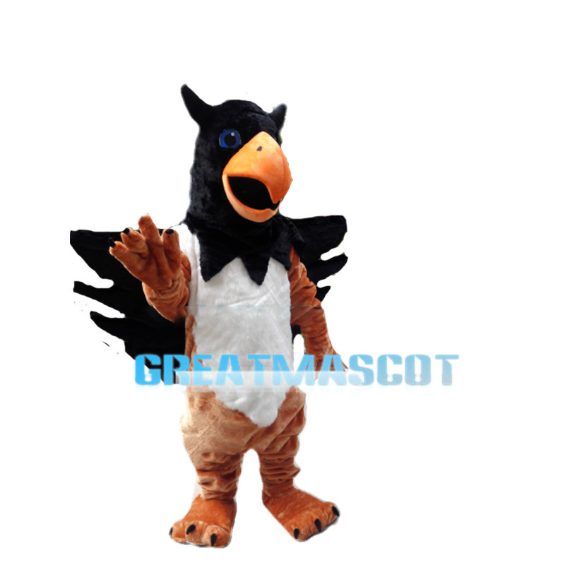 Blue Eyes Eagle With Horns Mascot Costume