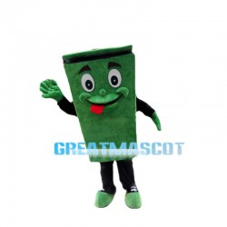 Green Recyclable Public Trash Can Mascot Costume