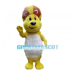 Lively Cartoon Lion With Ball Shaped Mane Mascot Costume