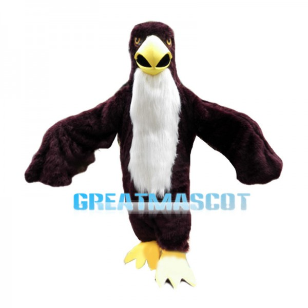 Red Brown Eagle With Powerful Wings Mascot Costume