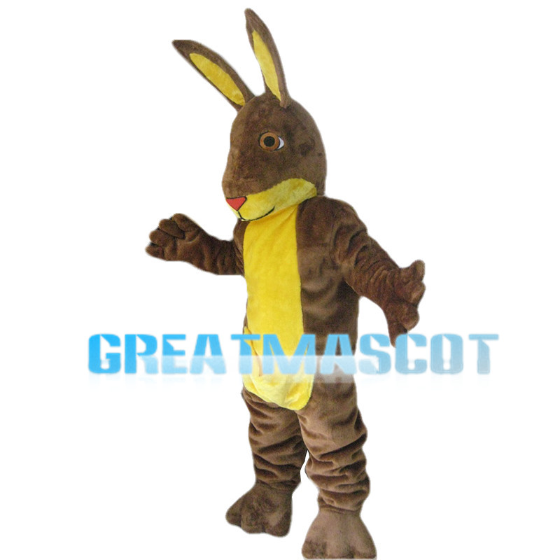 Large Brown & Yellow Rabbit Mascot Costume