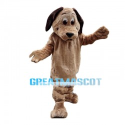 Brown Dog With Flat Mouth Mascot Costume