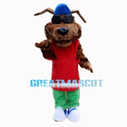 Cool Hiphop Dog With Sunglasses Mascot Costume