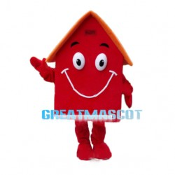 Solid Red House Mascot Costume