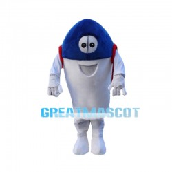 Blue Rocket Ready To Launch Mascot Costume