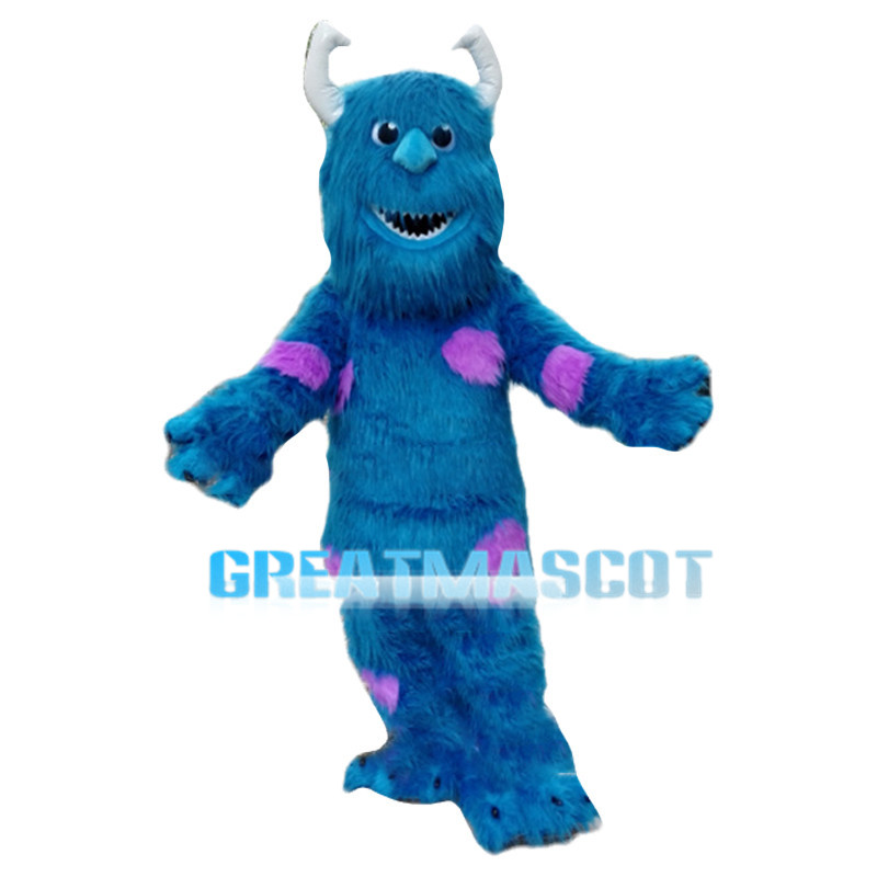 Huge Blue-haired Monster Mascot Costume