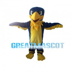 Blue Bird With Yellow Beak Mascot Costume