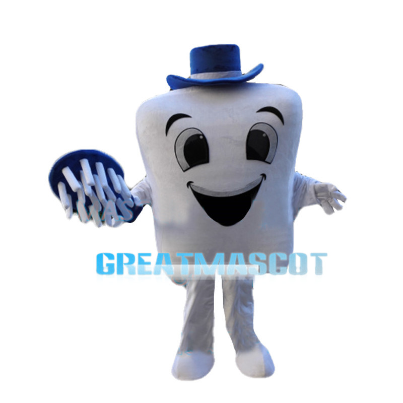 Cartoon Smiling Teeth Mascot Costume