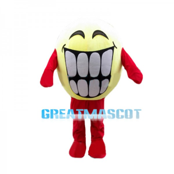 Smiley Face Showing Teeth Mascot Costume