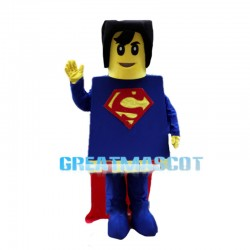 Comical Lego Superman Mascot Costume