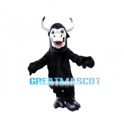 Steady Black Cattle Mascot Costume
