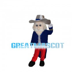 Senior Gentleman With White Beard Mascot Costume