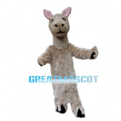 Walking Style Light Brown Alpaca Mascot Costume