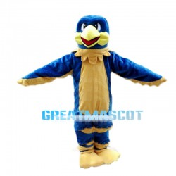 Convivial Blue & Yellow Bird Mascot Costume