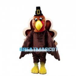 Arrogant Brown Peacock Mascot Costume