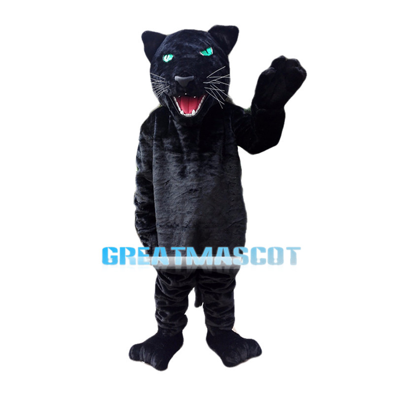 Black Panther With Clear Green Eyes Mascot Costume