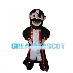 Bearded Pirate With Blindfold Mascot Costume