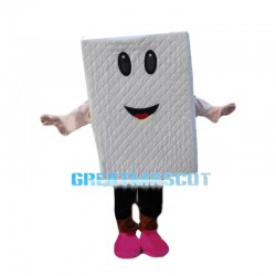 Thick White Latex Mattress Mascot Costume