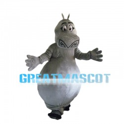 Clumsy Hippo With Big Belly Mascot Costume
